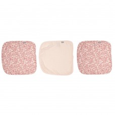 3pcs. Muslin face cloth 32х32cm Leopard Pink