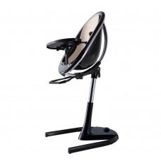 Висок стол за хранене Mima Moon Champagne - черна рамка