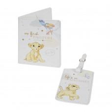 Disney Magical Beginnings Калъф за паспорт и табелка Simba