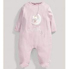 Бебешки гащеризон със заек Pink Fashion Layette