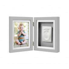 Рамка за снимка и отпечатък за бюро – сива