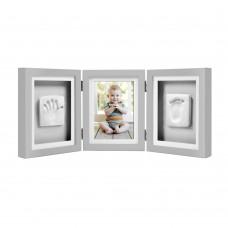 Луксозна рамка за снимка и отпечатък за бюро – сива