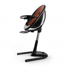 Висок стол за хранене Mima Moon Camel - черна рамка