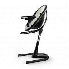 Висок стол за хранене Mima Moon White - черна рамка