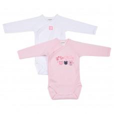 2 бр. Бебешки бодита с дълъг ръкав OPE N 1 DES CALINS
