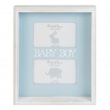 Petit Cheri Дървена двойна рамка за снимка - Baby Boy
