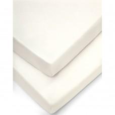 Комплект чаршафи за кошче 2 броя - кремаво 40-94cм