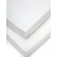 Долен чаршаф с ластик 2 бр. 70х142см White